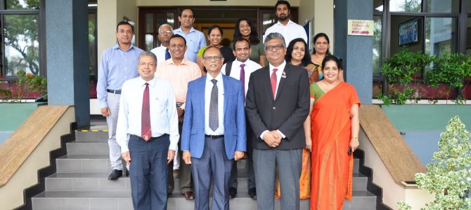 A special meeting between Dr Bandula Wijay and Members of the IIVCC, USJP