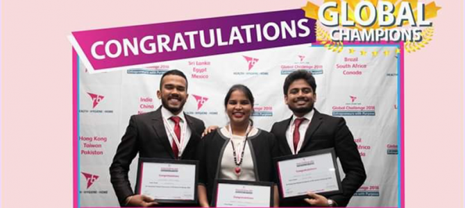 Three USJP Management Undergraduates won RB Global Challenge 2018