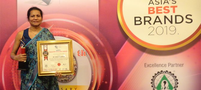 Dr. Asha Fernando Wins 'Women Super Achiever' & 'Innovative Leader' Awards at Asia's Education Excellence Award Ceremony