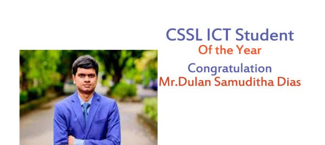 CSSL ICT Student of the year ..congratulations!